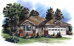 Bungalow Ranch House Plan 98845 Elevation