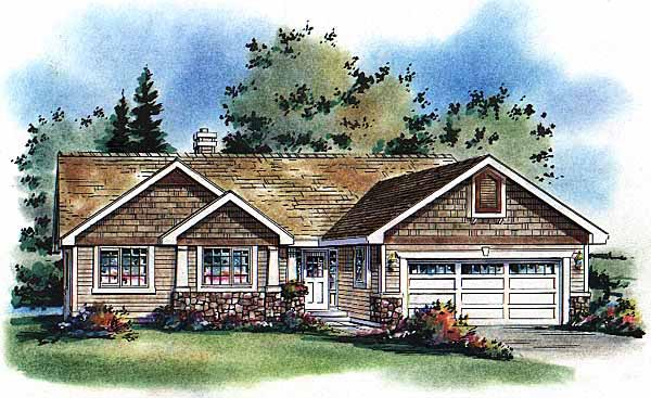 Bungalow, Craftsman, One-Story, Ranch House Plan 98849 with 2 Beds, 2 Baths, 2 Car Garage Elevation
