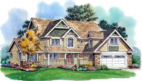 Country Craftsman Farmhouse House Plan 98850 Elevation