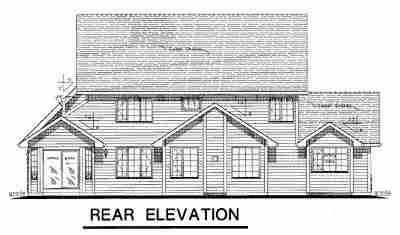 Country Craftsman Farmhouse House Plan 98850 Rear Elevation