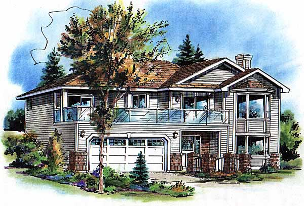 Contemporary House Plan 98851 Elevation