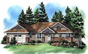 Plan Number 98852 - 1302 Square Feet