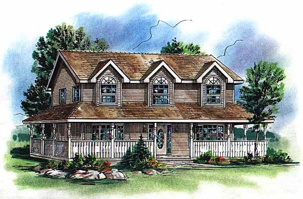 Country Farmhouse House Plan 98853 Elevation