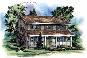 Country House Plan 98854 with 4 Beds, 3 Baths Elevation