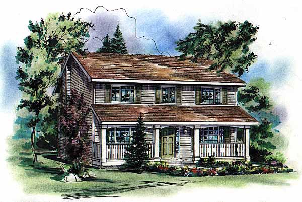 Country House Plan 98854 Elevation