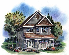 Victorian , Craftsman House Plan 98856 with 3 Beds, 3 Baths Elevation