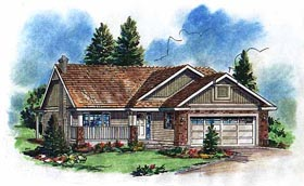 Ranch House Plan 98857 Elevation