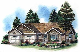Ranch House Plan 98858 Elevation