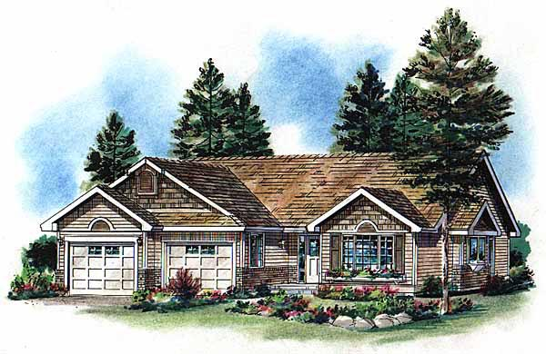 One-Story, Ranch House Plan 98858 with 3 Beds, 2 Baths Elevation
