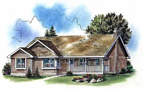 Ranch Elevation of Plan 98859