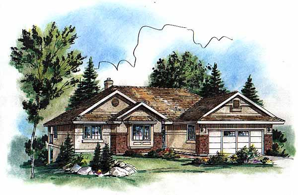 Ranch House Plan 98862 Elevation