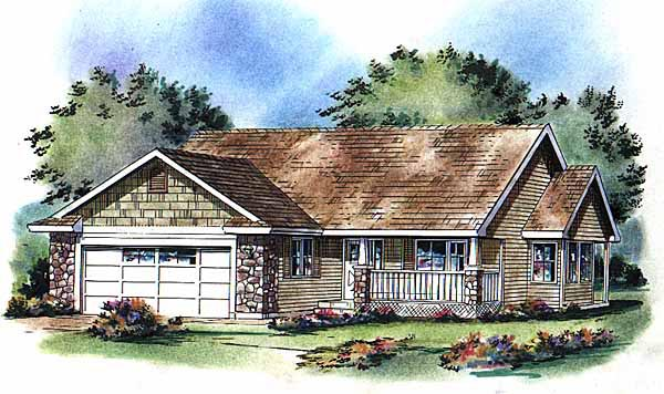 Ranch House Plan 98863 Elevation