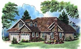 Craftsman Traditional House Plan 98864 Elevation