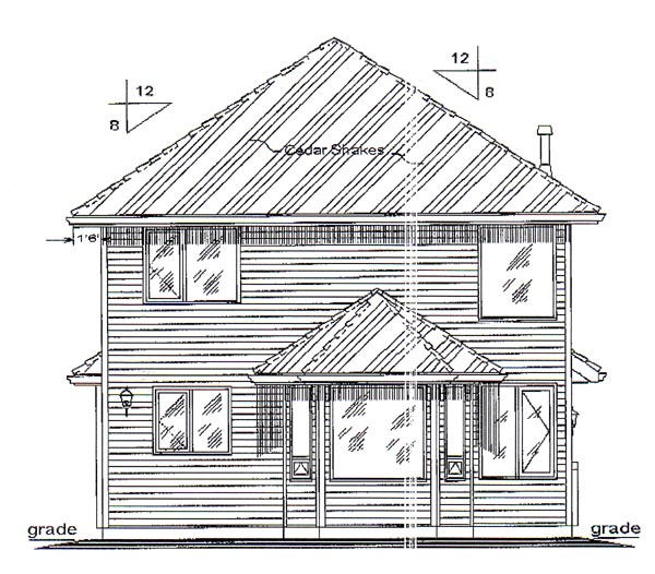 Traditional House Plan 98867 Rear Elevation