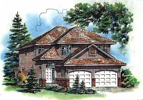 Traditional House Plan 98868 with 3 Beds, 3 Baths, 2 Car Garage Elevation