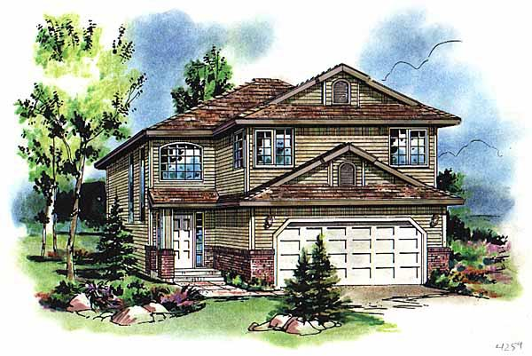 European Traditional House Plan 98869 Elevation