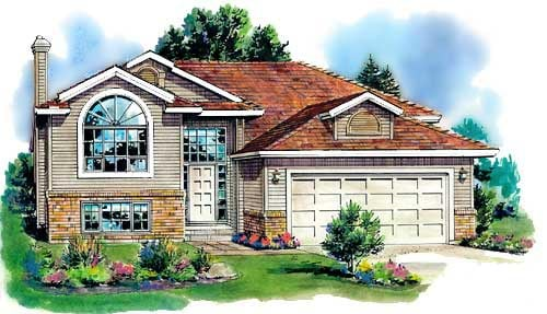 European House Plan 98870 Elevation