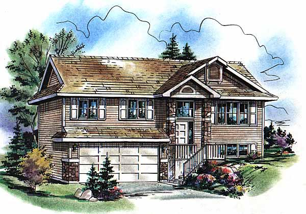 Contemporary, Narrow Lot House Plan 98873 with 3 Beds, 1 Baths, 2 Car Garage Elevation