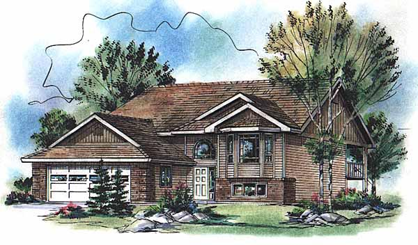 One-Story Traditional Elevation of Plan 98874