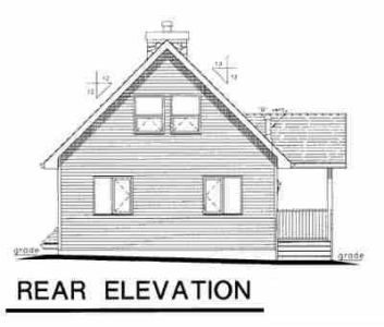 Contemporary House Plan 98879 Rear Elevation