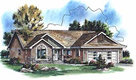 Ranch House Plan 98885 Elevation