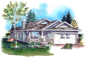 Bungalow Ranch House Plan 98886 Elevation