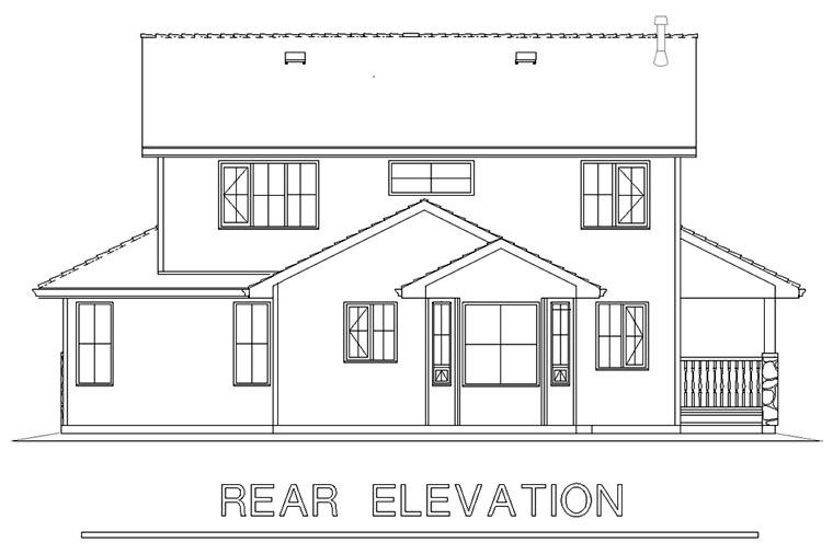 Farmhouse House Plan 98891 Rear Elevation