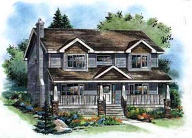 Country , Bungalow House Plan 98894 with 4 Beds, 3 Baths Elevation
