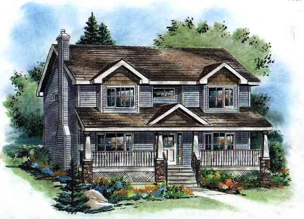 Bungalow Country House Plan 98894 Elevation