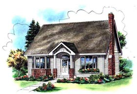 House Plan 98895 | Cape Cod Style Plan with 1599 Sq Ft, 3 Bedrooms, 3 Bathrooms Elevation
