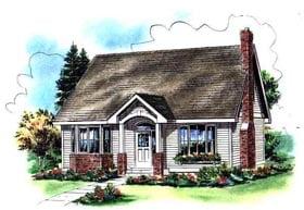 Cape Cod House Plan 98895 Elevation