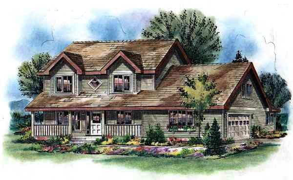 Country House Plan 98896 Elevation