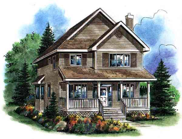 House Plan 98897 Elevation