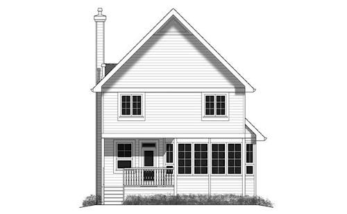House Plan 98897 Rear Elevation