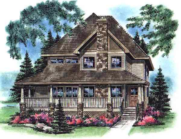 Bungalow Country European Farmhouse House Plan 98899 Elevation