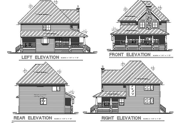 Bungalow Country European Farmhouse House Plan 98899 Rear Elevation