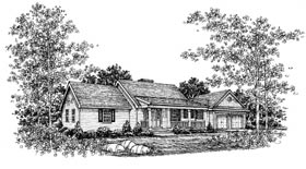 Country House Plan 99000 Elevation