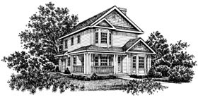 Bungalow Country Southern House Plan 99012 Elevation