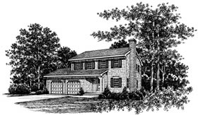 Bungalow Country House Plan 99013 Elevation
