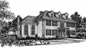 Colonial European House Plan 99020 Elevation