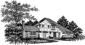 Tudor Elevation of Plan 99021