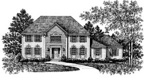 Colonial European House Plan 99023 Elevation