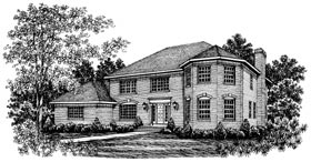 House Plan 99025 | Colonial Victorian Style Plan with 3467 Sq Ft, 5 Bedrooms, 4 Bathrooms Elevation