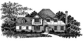 House Plan 99028 | Tudor Style Plan with 3006 Sq Ft, 3 Bedrooms, 3 Bathrooms Elevation