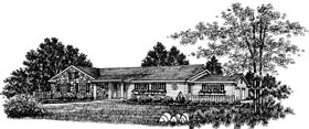 Bungalow, One-Story, Ranch House Plan 99030 with 3 Beds, 2 Baths Front Elevation