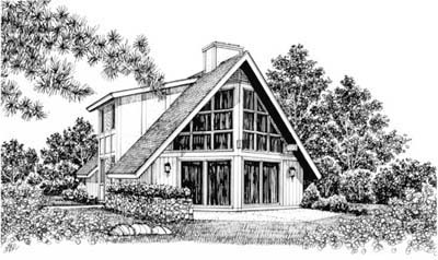 Contemporary House Plan 99032 with 3 Beds , 2 Baths Elevation