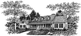 Country House Plan 99035 Elevation