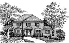 Colonial European House Plan 99036 Elevation