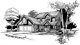 Country House Plan 99037 Elevation