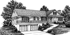 Bungalow House Plan 99039 Elevation